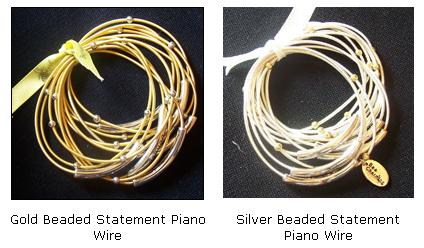 Piano Wire Bracelet - Click Image to Close