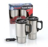 12V Heated Travel Mugs - Set of 2 (87047B )